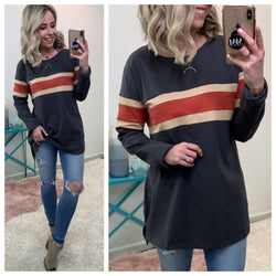 Austin Striped Pullover - Madison + Mallory