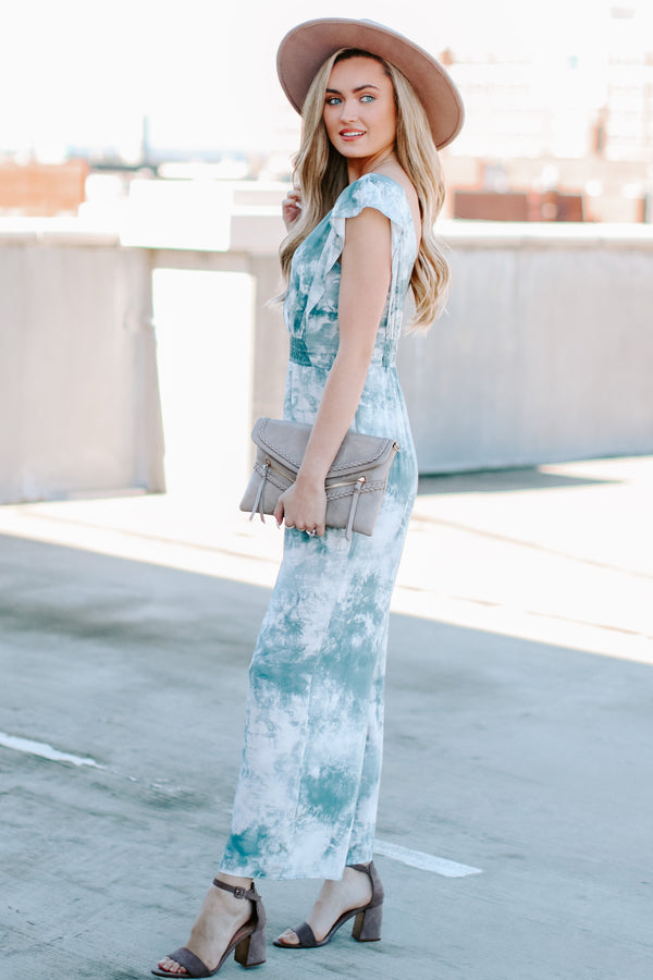 Sora Tie Dye Surplice Jumpsuit - Madison and Mallory
