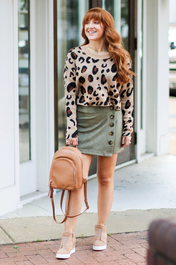 Party Animal Leopard Sweater - Madison + Mallory