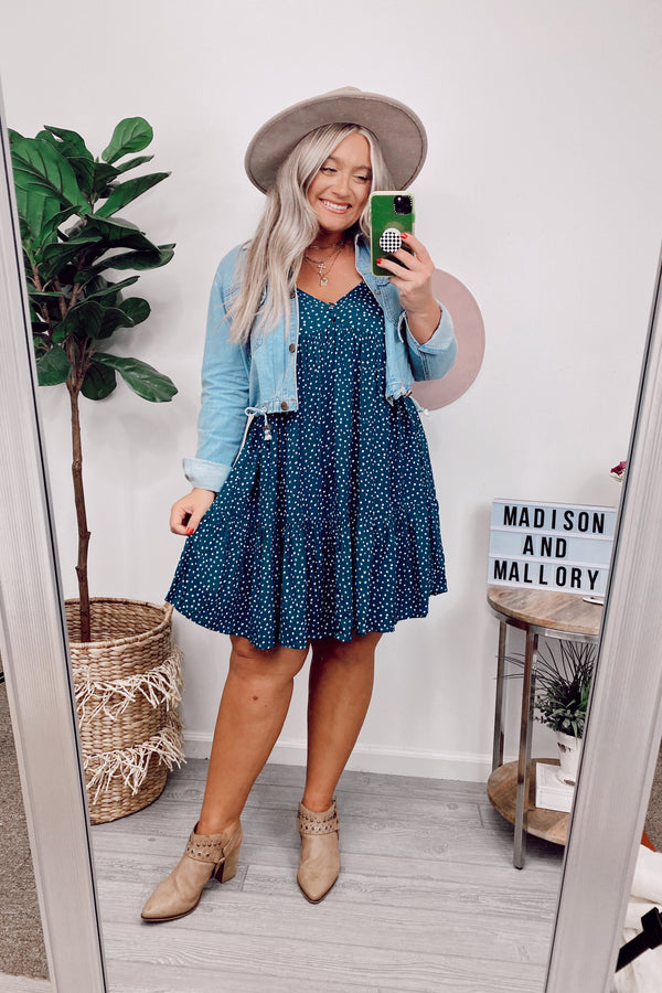 You Dot It Polka Dot Babydoll Tiered Dress - FINAL SALE - Madison and Mallory
