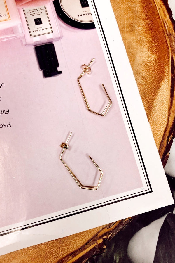 Gold Sort it Out Geo Detail Earrings - Madison and Mallory