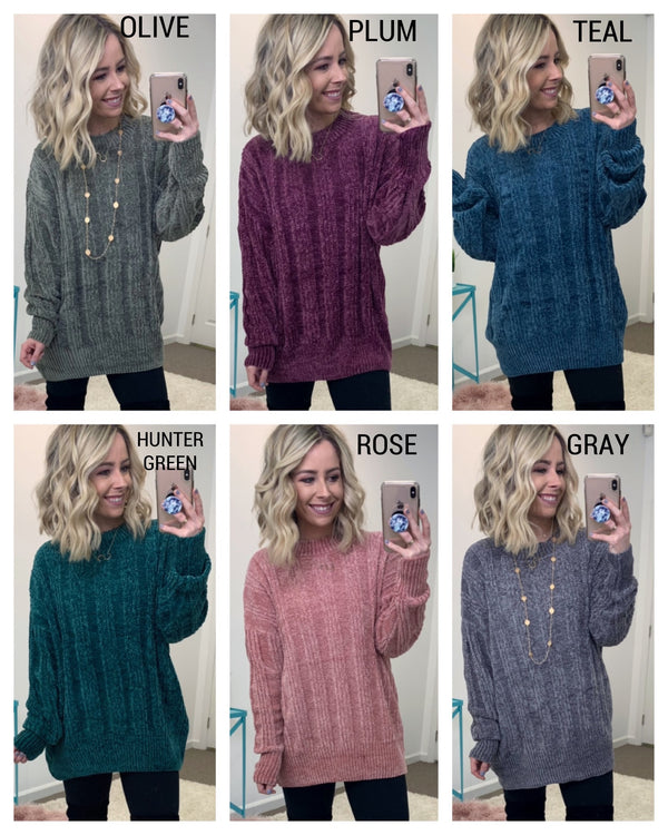 Jayson Chenille Sweater - Madison + Mallory