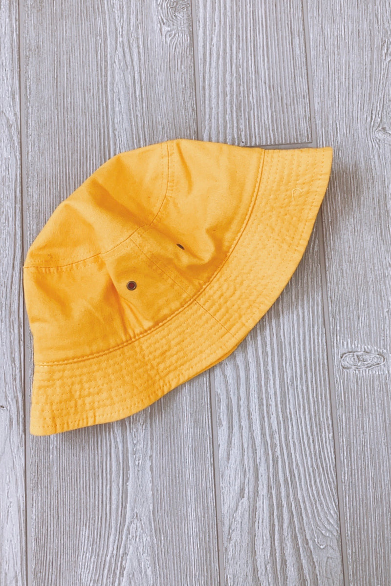 Wrightsville Canvas Bucket Hat - Gold - Madison and Mallory