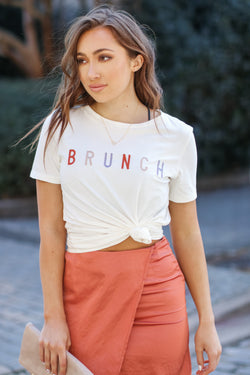 Brunch Embroidered Graphic Top - Madison + Mallory