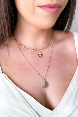 Astraea Star Charm Layered Necklace - Madison and Mallory