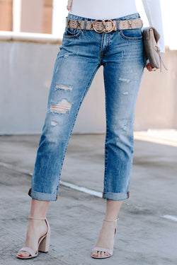 Trevon Distressed Boyfriend Jeans - FINAL SALE - Madison and Mallory