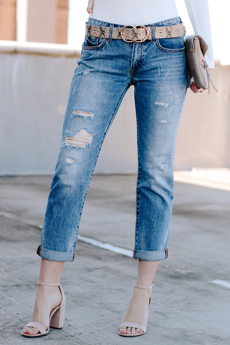 Trevon Distressed Boyfriend Jeans - Madison and Mallory