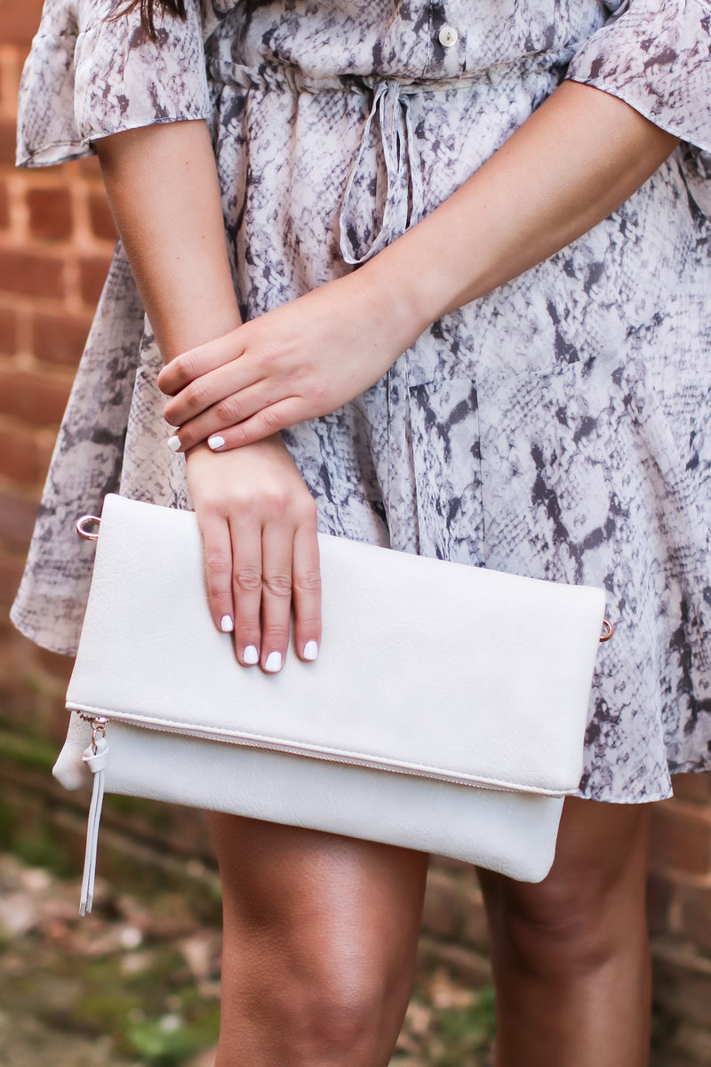 Upscale Fold Over Clutch - Madison and Mallory