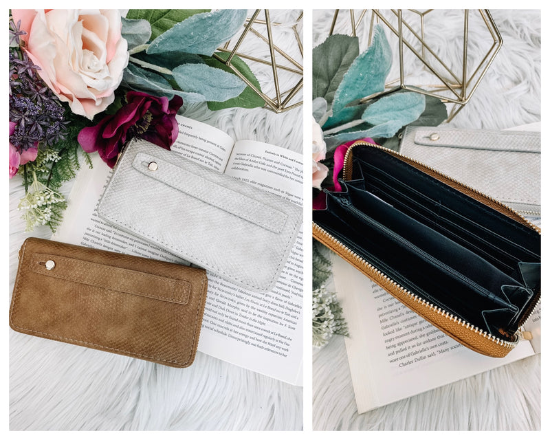Hughes Faux Leather Zip Wallet + MORE COLORS - Madison and Mallory