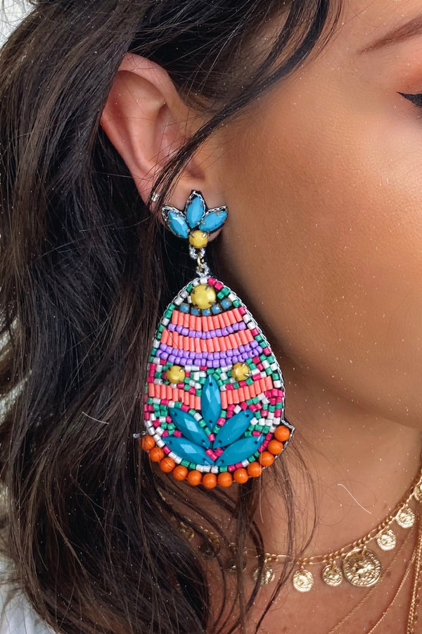 Next Vacay Multi Seed Bead Earrings - Madison and Mallory