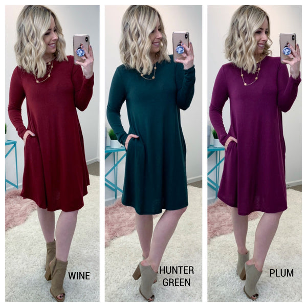 Anaya Knit Sweater Dress - Madison + Mallory