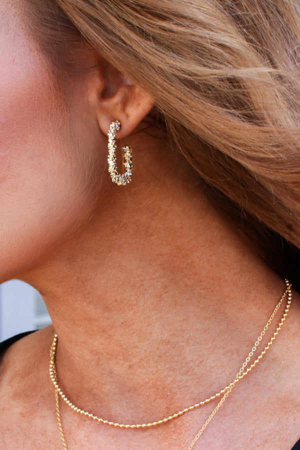 Charming One Square Hoop Earrings - Madison and Mallory