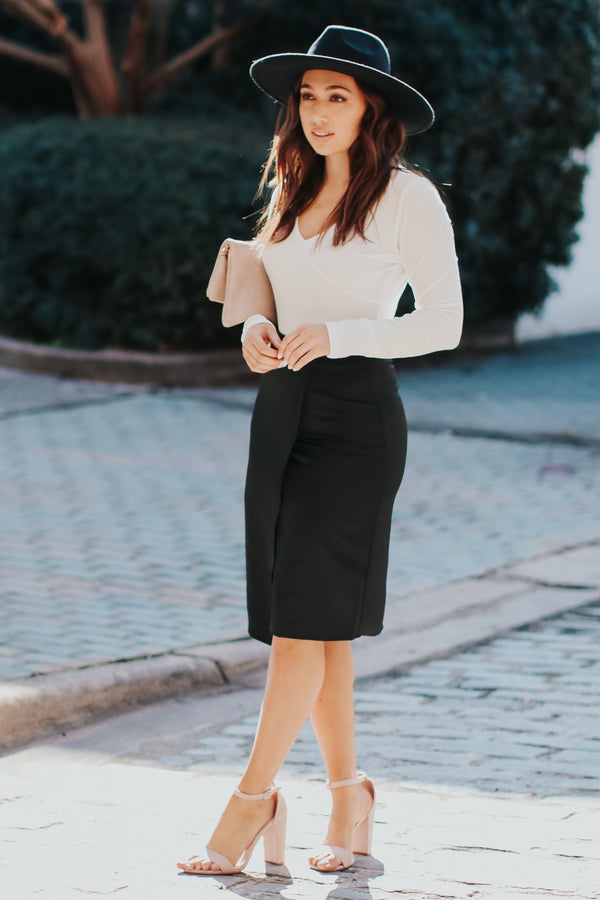 En Vogue Satin Skirt - Black - Madison + Mallory