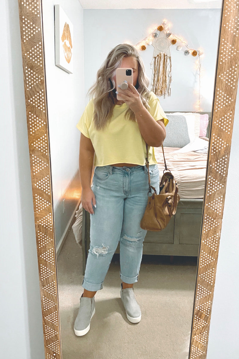Best Interest Distressed Boyfriend Jeans - Madison and Mallory