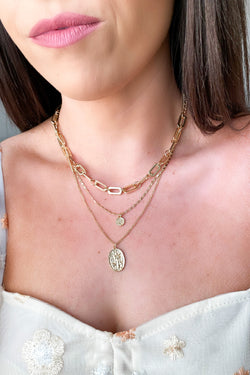 Gold Fountain of Youth Chain Layered Necklace - Madison and Mallory