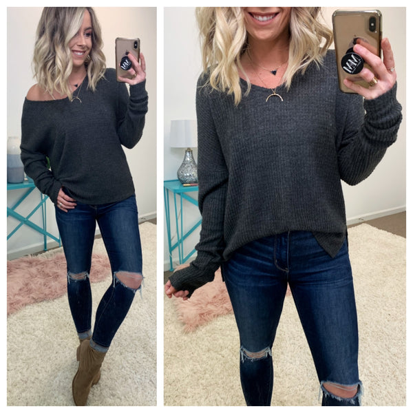 Can't Blame You Brushed Knit Top - Madison + Mallory