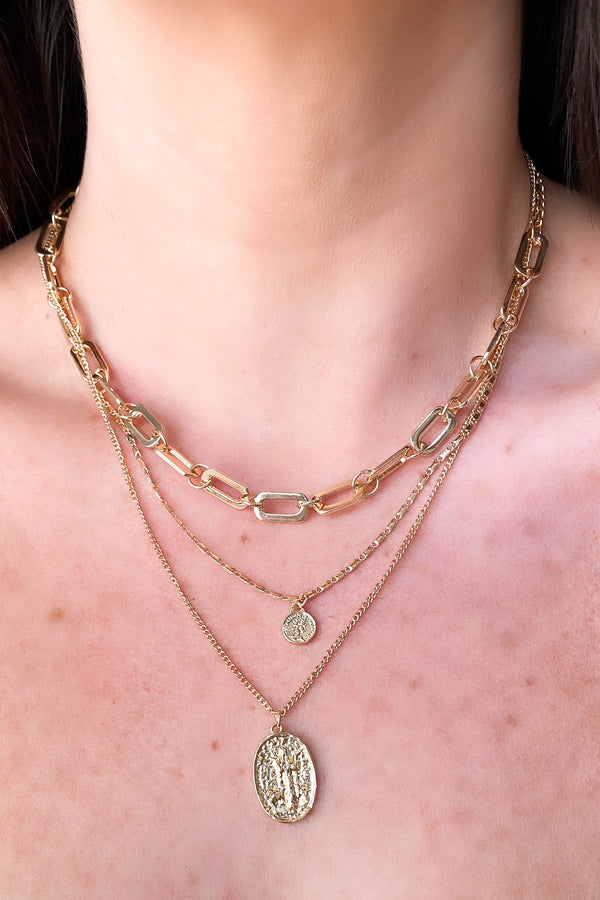 Fountain of Youth Chain Layered Necklace - Madison and Mallory
