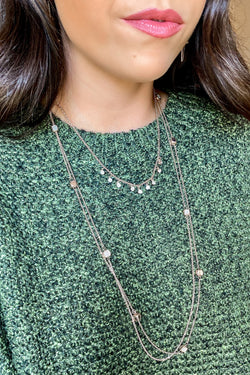 Naiya Layered Crystal Necklace Set - Madison and Mallory