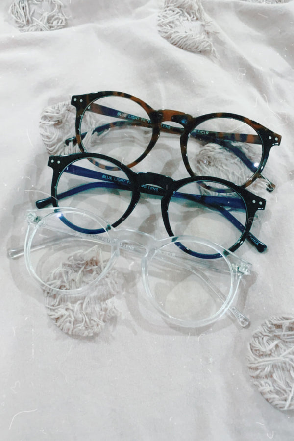 Make it Clear Retro Blue Light Glasses - Madison and Mallory