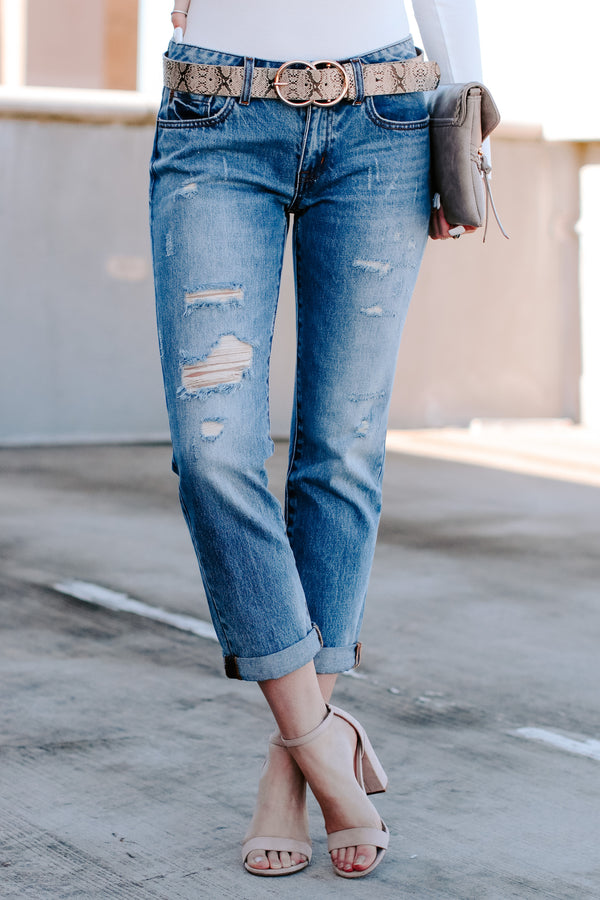Trevon Distressed Boyfriend Jeans - Madison + Mallory