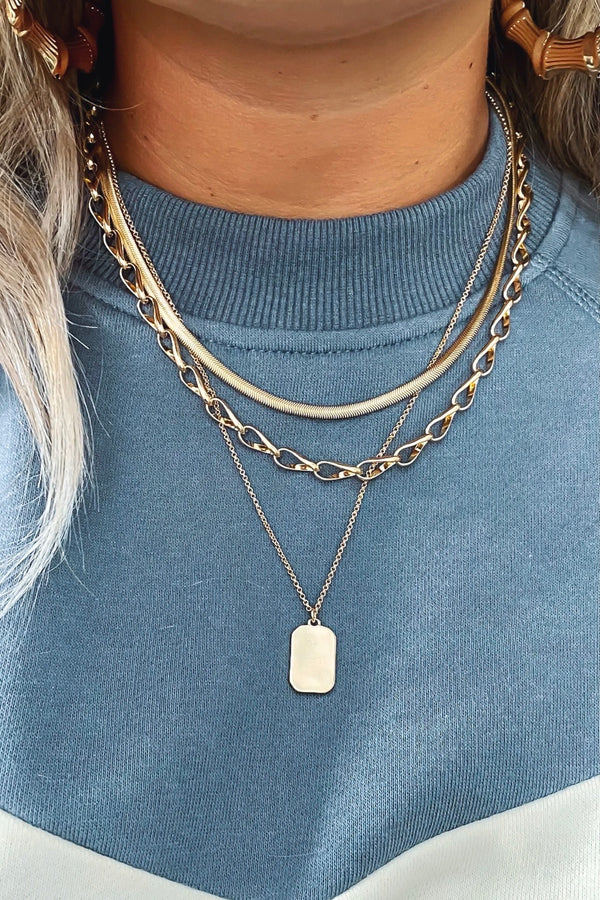 Make it Complete Chain Pendant Layered Necklace - Madison and Mallory