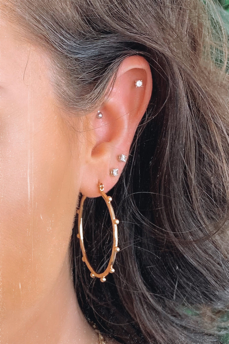 Luciole Beaded Hood Earrings - Madison and Mallory