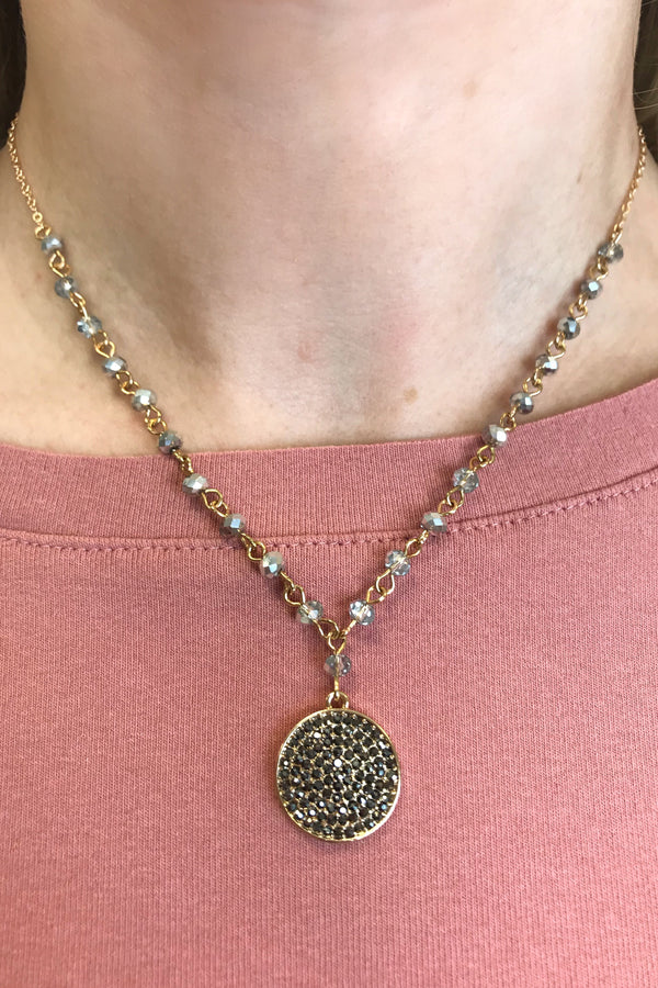OS / Gray All I Can Do Necklace - Madison + Mallory