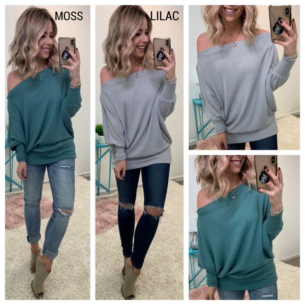 Angelina Long Sleeve Thermal Top - Madison + Mallory