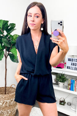 Primavera Surplice Front Romper - FINAL SALE - Madison and Mallory