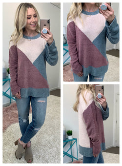 Spice It Up Color Block Sweater - Madison + Mallory