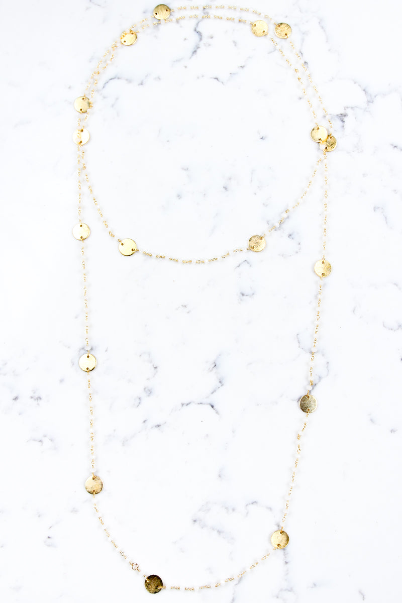 OS / White Jenna Wrap Necklace - Madison + Mallory