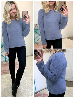 Gentry Cable Knit Sweater - Madison + Mallory