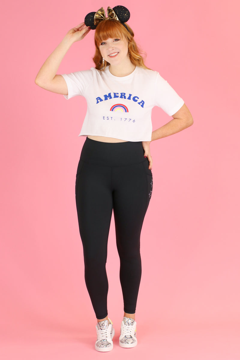 America est. 1776 Graphic Crop Top - FINAL SALE - Madison and Mallory