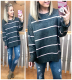 Stripe Out Sweater - Madison + Mallory