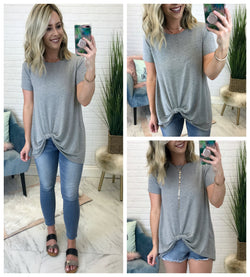 In a Knot Twist Front Top - Madison + Mallory
