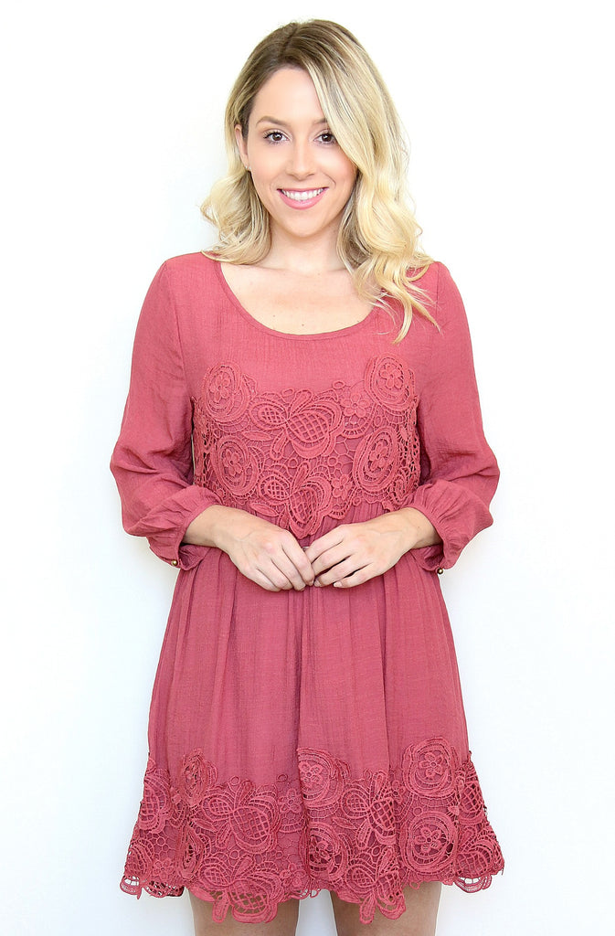 Crochet Embroidered Dress