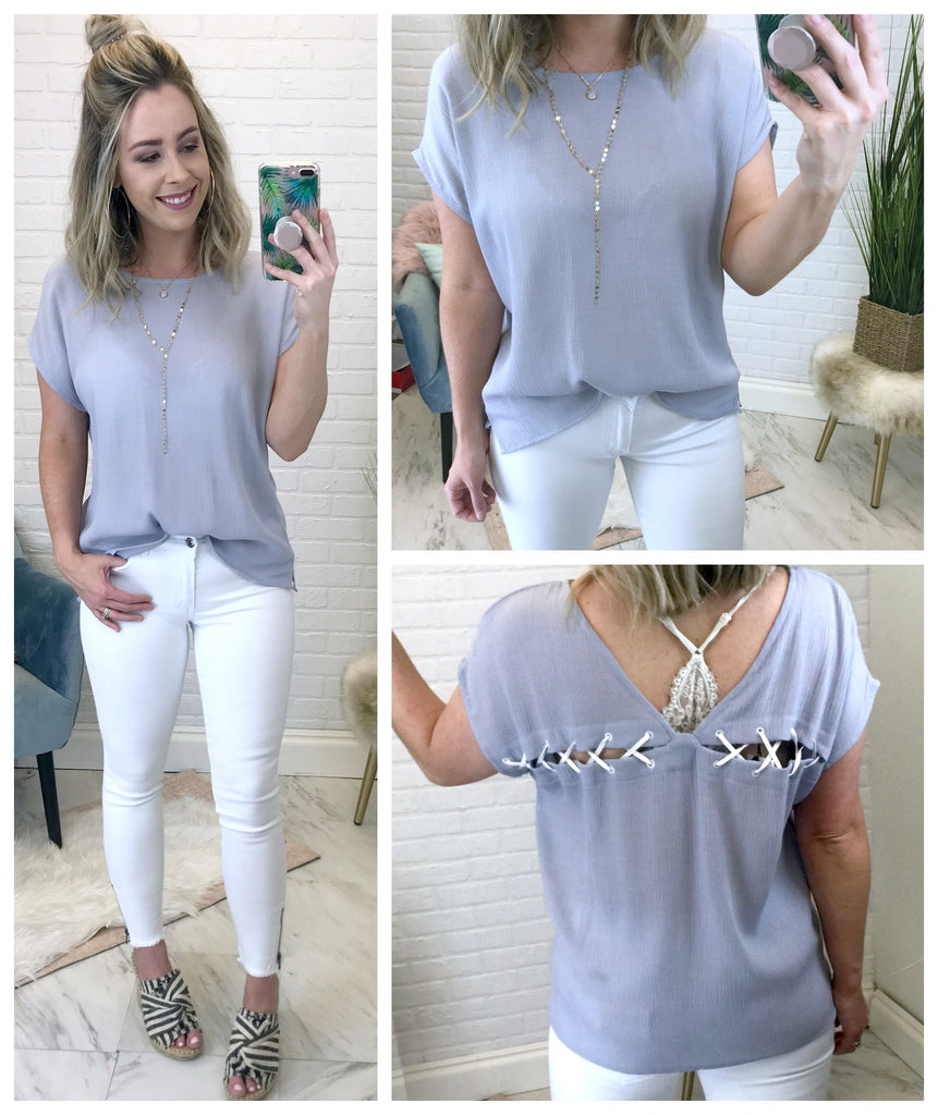 Aimee Laced Back Top - Madison + Mallory