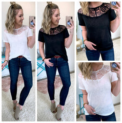 Aliana Lace Top - Madison + Mallory