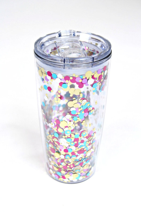 20oz Let's Party Confetti 20 oz. Tumbler - Madison + Mallory