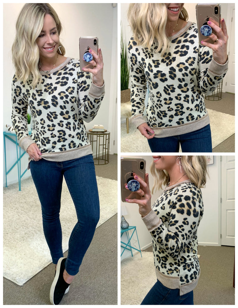 Fearless Leopard Top - Madison + Mallory