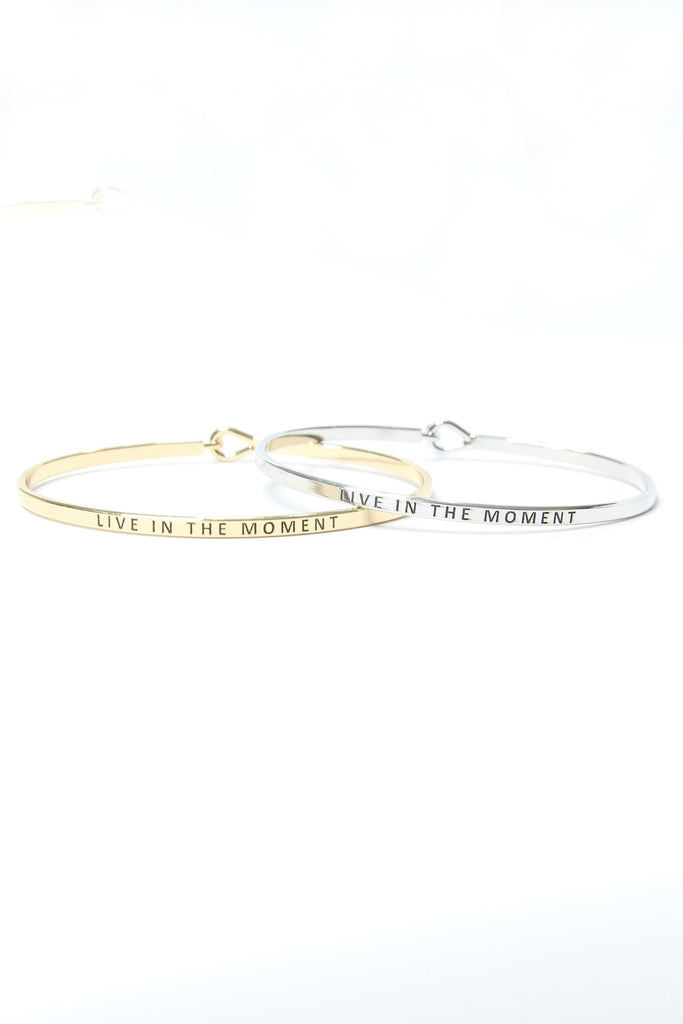 Live In The Moment Delicate Bangle Bracelet