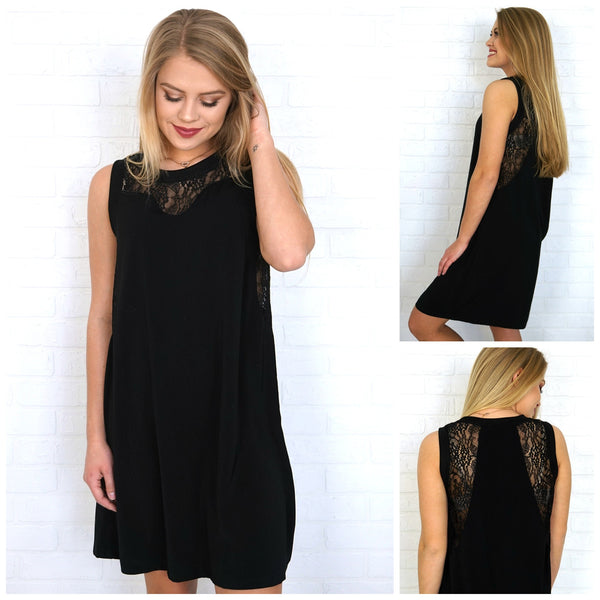 Lace Detail Dress - FINAL SALE - Madison + Mallory