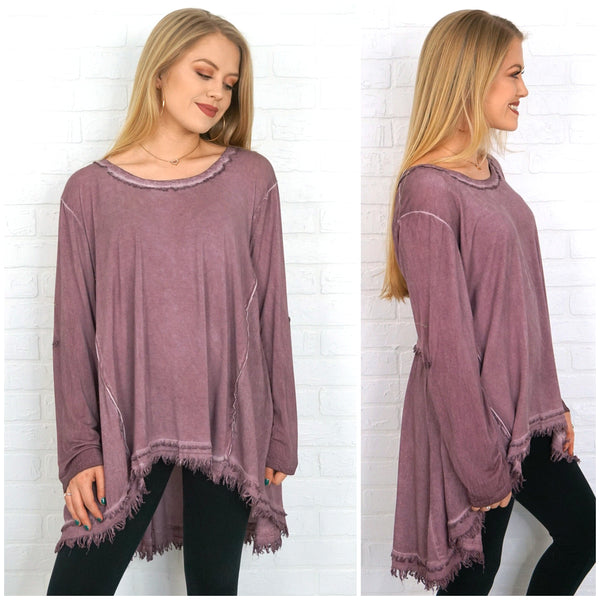 4d299fdaa3e9b8 ... Frayed Edge Tunic Top - Madison + Mallory