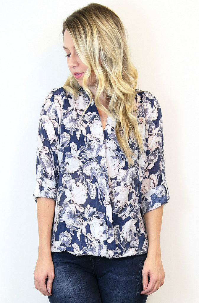 Floral Envelope Blouse +NEW COLOR