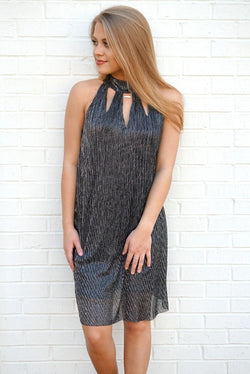 S / Silver Shimmer Dress - Madison + Mallory