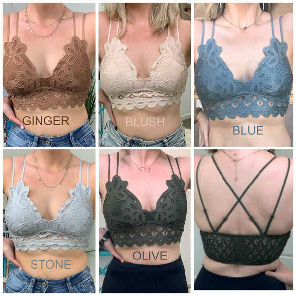 Scallop Lace Bralette - Madison + Mallory