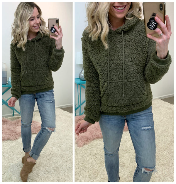 Hoodie Sherpa Pullover - Madison + Mallory