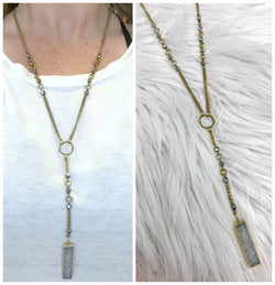 Dream Works Druzy Necklace - Madison + Mallory