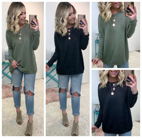 Landon Brushed Knit Tunic - Madison + Mallory