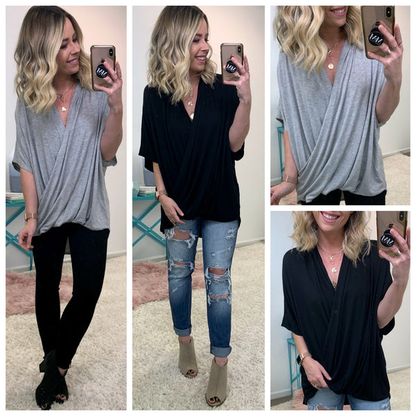 Murrell Draped Top - Madison + Mallory